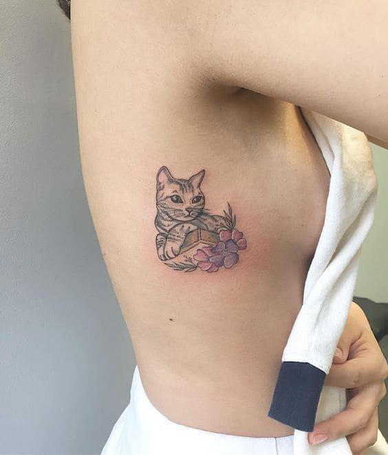 hình tatoo mèo cho nữ đẹp đến mê