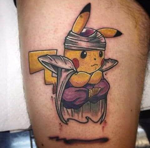 hình tattoo con pikachu cho nam