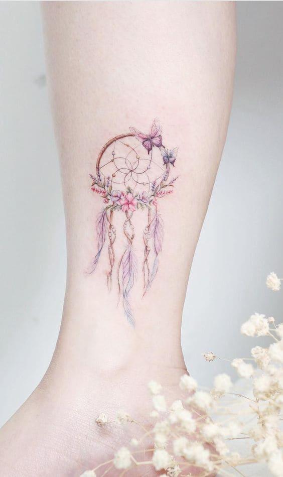 hình tattoo đẹp ở bắp chân con gái