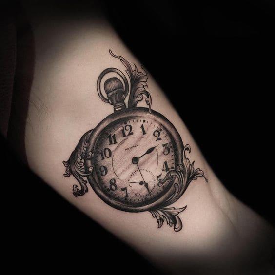 hình tattoo đồng hồ nhỏ đẹp cho nữ