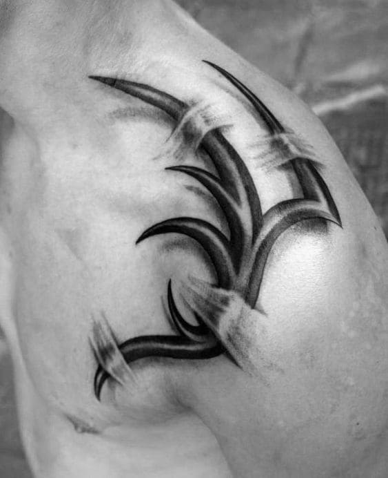 hình tattoo ở vai nam cực ngầu