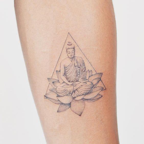 hình tattoo phật ở tay