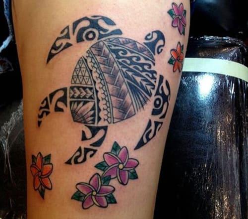 hình tattoo tứ linh rùa đẹp