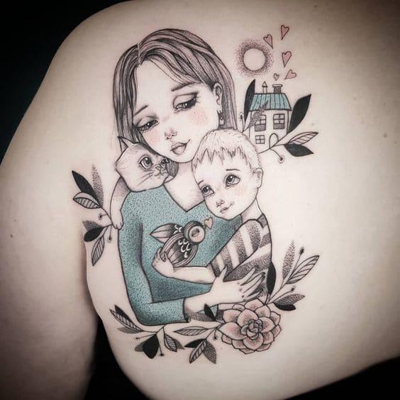 hình tattoo về mẹ đẹp nhất