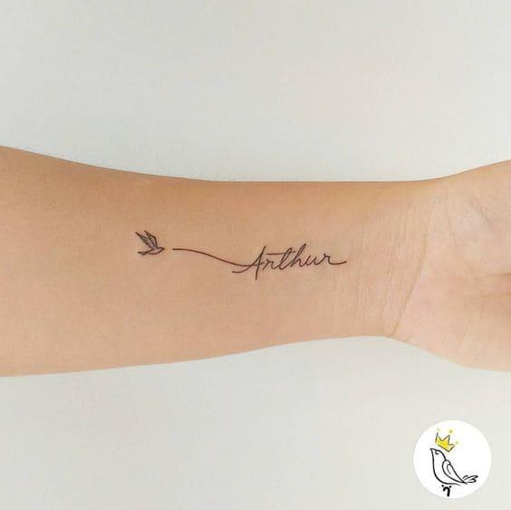 hình xăm chữ kiểu đẹp ở cổ tay