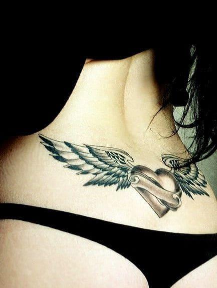 hình xăm tattoo đôi cánh nữ