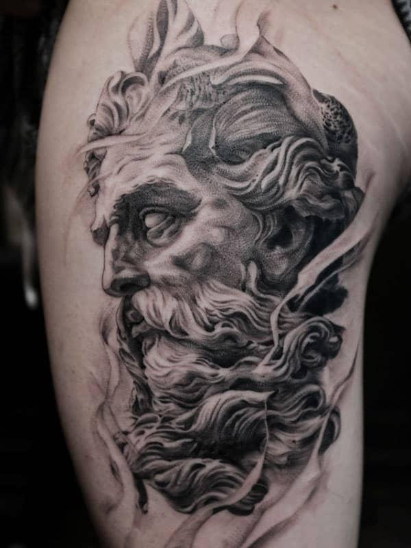 hình xăm tattoo ngầu ở bắp tay