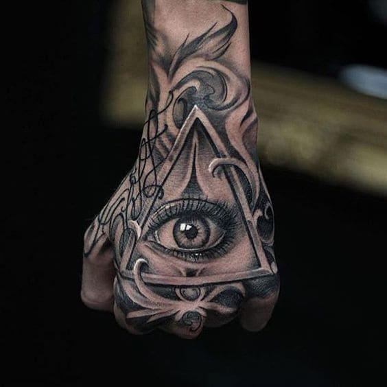 kiểu tattoo cực ngầu cho nam hình con mắt
