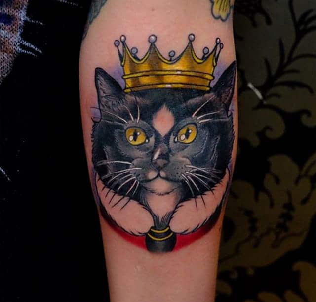 mẫu hình tattoo thái tử mèo cho nam