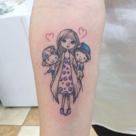 mẫu hình tattoo về mẹ mini