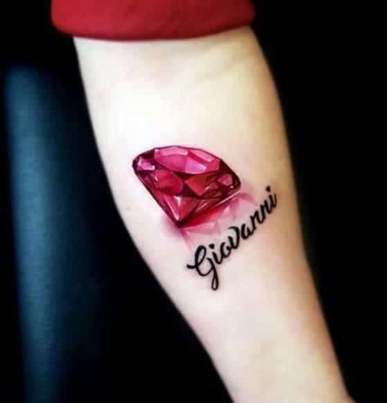 mẫu tattoo 3d hình kim cương cực đẹp ở tay