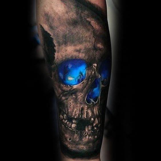 mẫu tattoo 3d ở tay cực ngầu