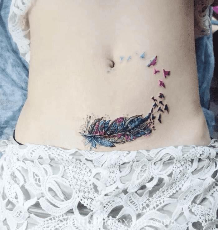 mẫu tattoo bụng cho nữ