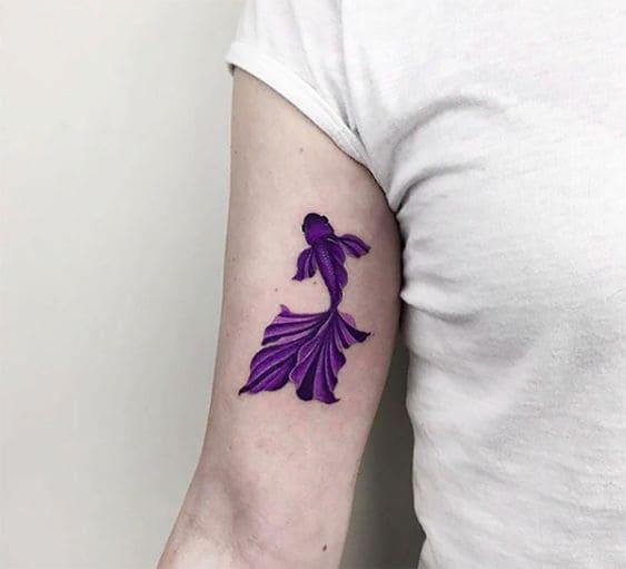 mẫu tattoo cá chép đơn giản mà đẹp