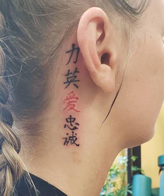 mẫu tattoo chữ tàu cho phái đẹp