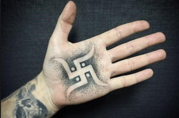 mẫu tattoo chữ vạn phật giáo