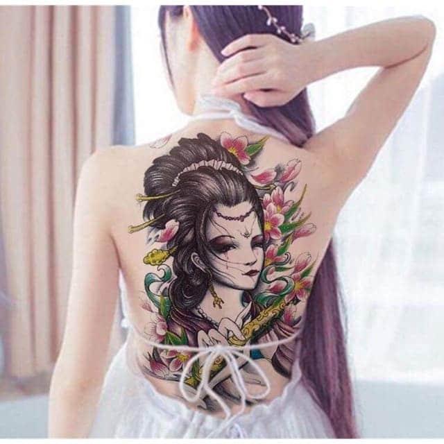 mẫu tattoo cô gái trung hoa tuyệt đẹp