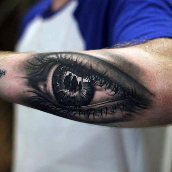 mẫu tattoo con mắt 3d đẹp nhất