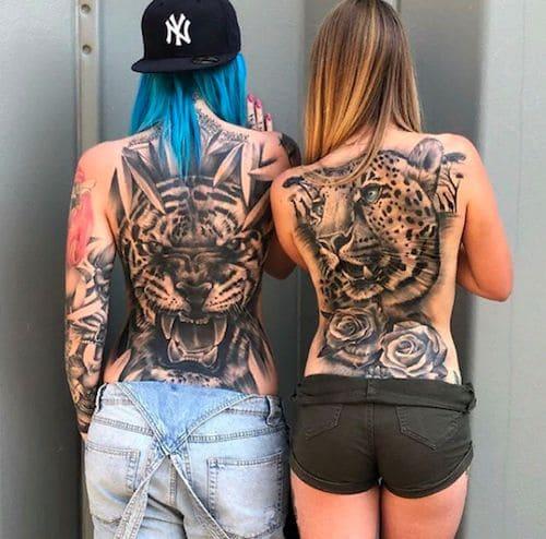 mẫu tattoo hình con hồ cho nữ