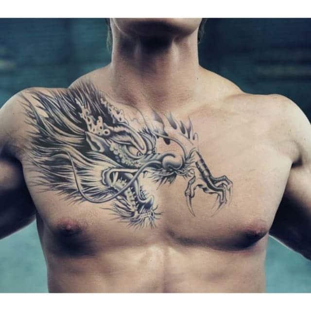 mẫu tattoo hình đầu rồng đẹp cho phái mạnh