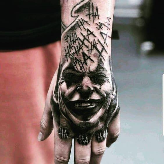 mẫu tattoo hình mặt người cực chất