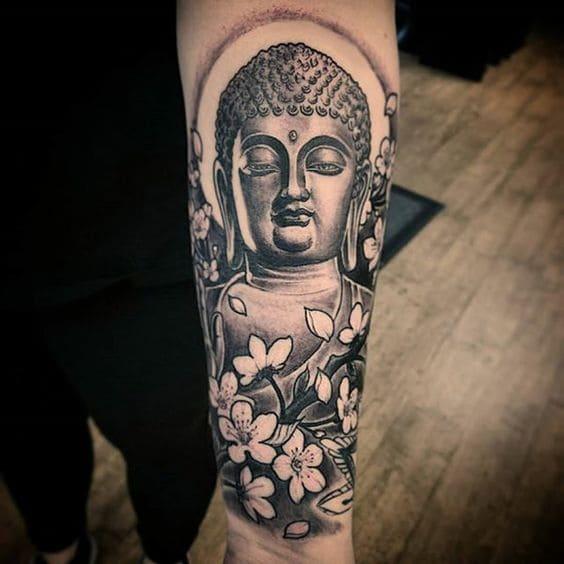 mẫu tattoo hình phật ở tay đẹp