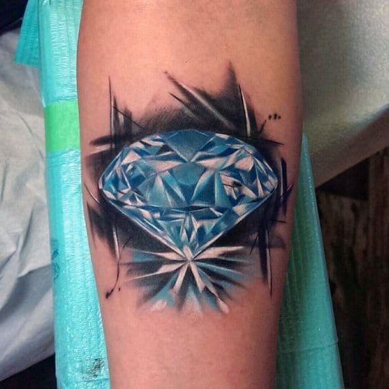 mẫu tattoo kim cương 3d đẹp