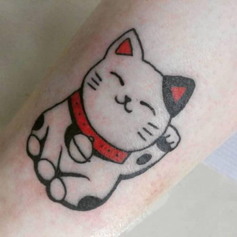 mẫu tattoo mèo cho nữ