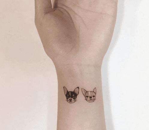 mẫu tattoo mini ở cổ tay cho những nàng yêu thích động vật