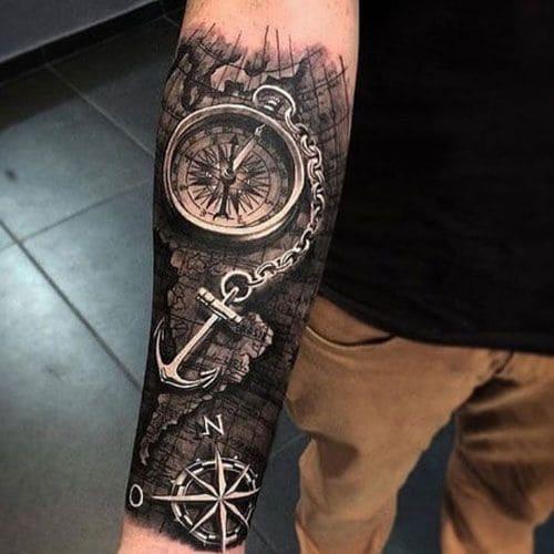 mẫu tattoo mỏ neo 3d cực chất