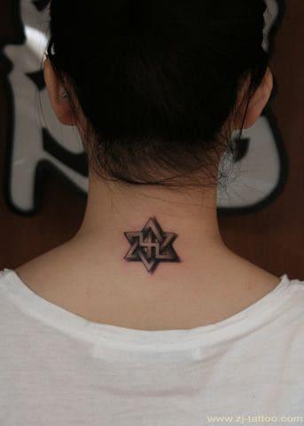 mẫu tattoo sau gáy chất