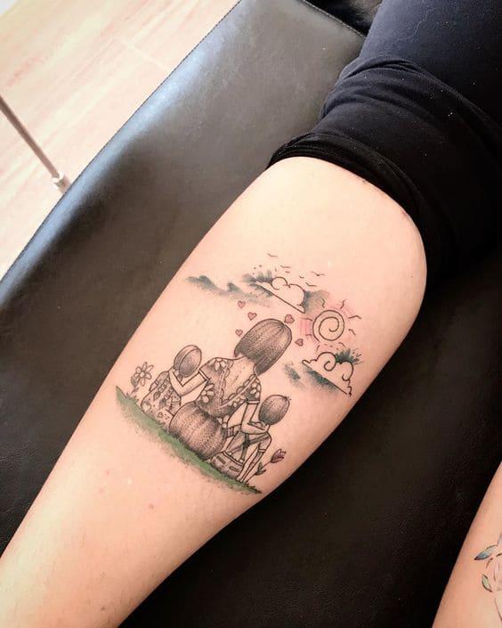 mẫu tattoo về mẹ mini trên cánh tay