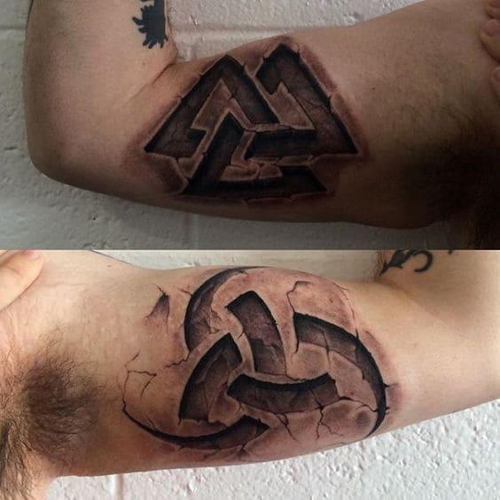 tattoo 3d bắp tay trong