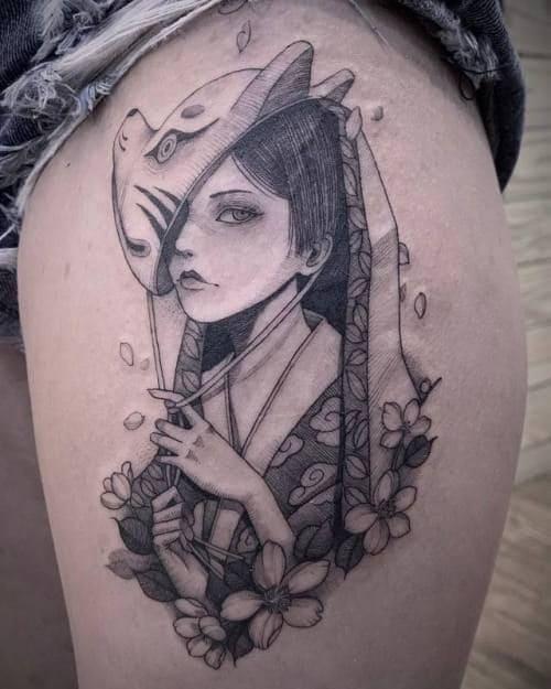 tattoo hình cô gái trung hoa ngầu và đẹp nhất