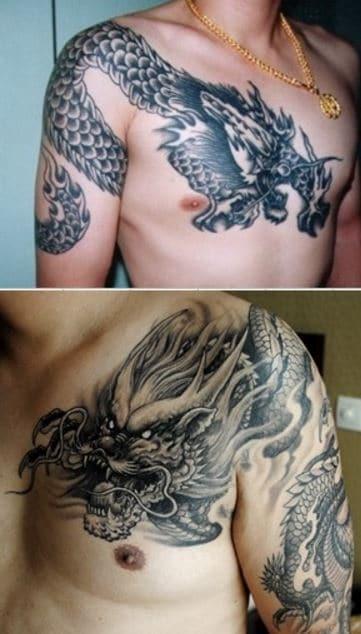Ấn tượng với mẫu tattoo rồng của Trần Hạo Nam được nhiều nơi sử dụng lại