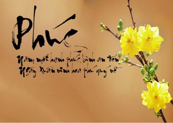 Ảnh chữ phúc cho một năm mới vinh hoa phú quý