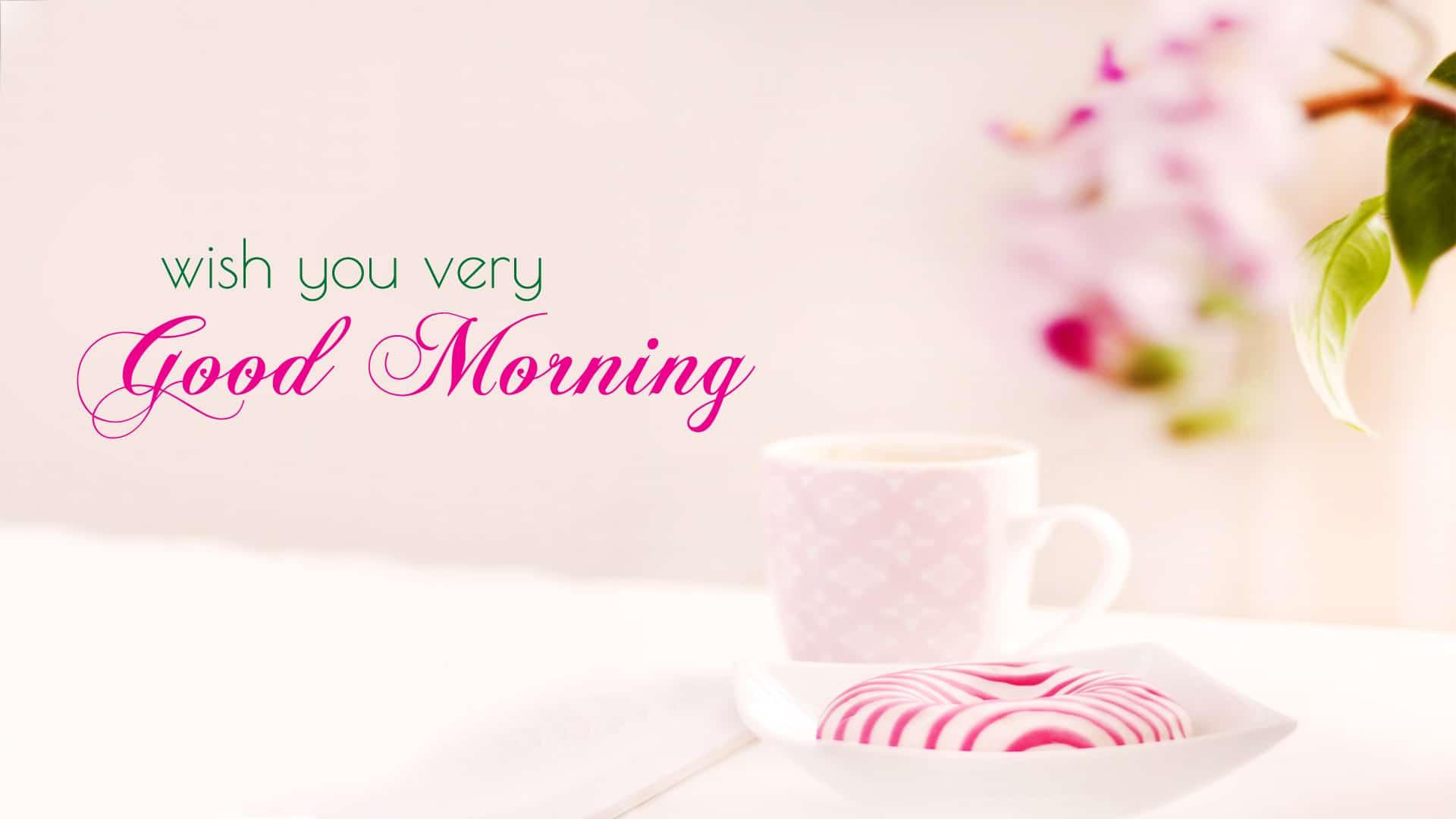 Ảnh nền chào buổi sáng dễ thương đáng yêu