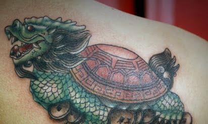 Ảnh xăm con rùa đầu rồng đẹp