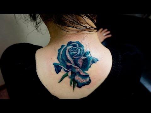 Ảnh xăm hoa hồng xanh đẹp nhất