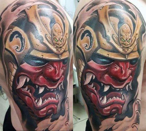 Chiêm ngưỡng mẫu xăm mặt quỷ Oni đặc sắc nhất