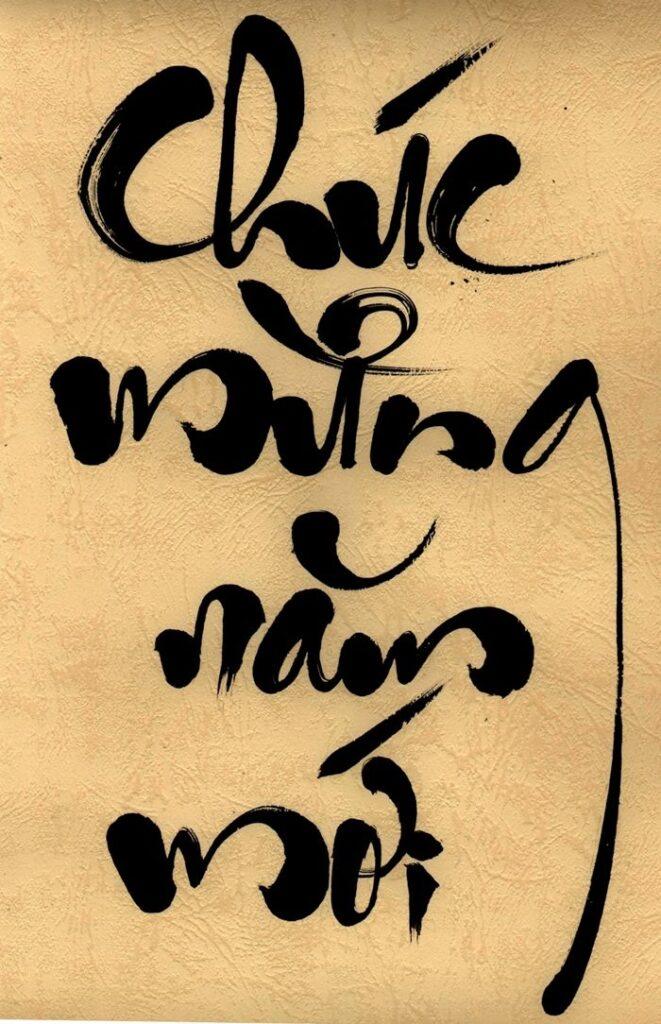 Font chữ chúc mừng năm mới nghệ thuật đẹp