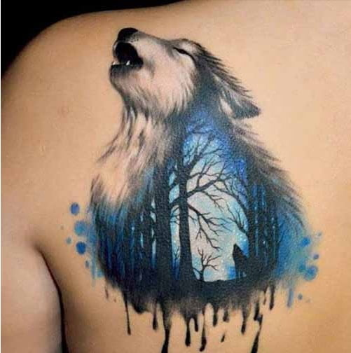Giới thiệu đến bạn hình xăm sói ở lưng đẹp nhất