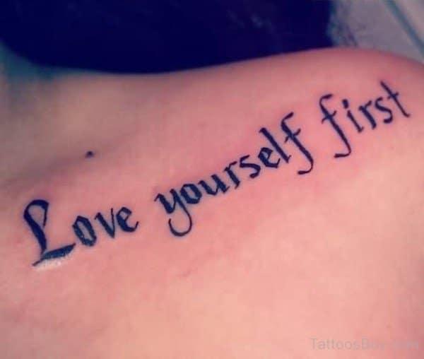 Giới thiệu đến bạn mẫu chữ love yourself first đặc sắc
