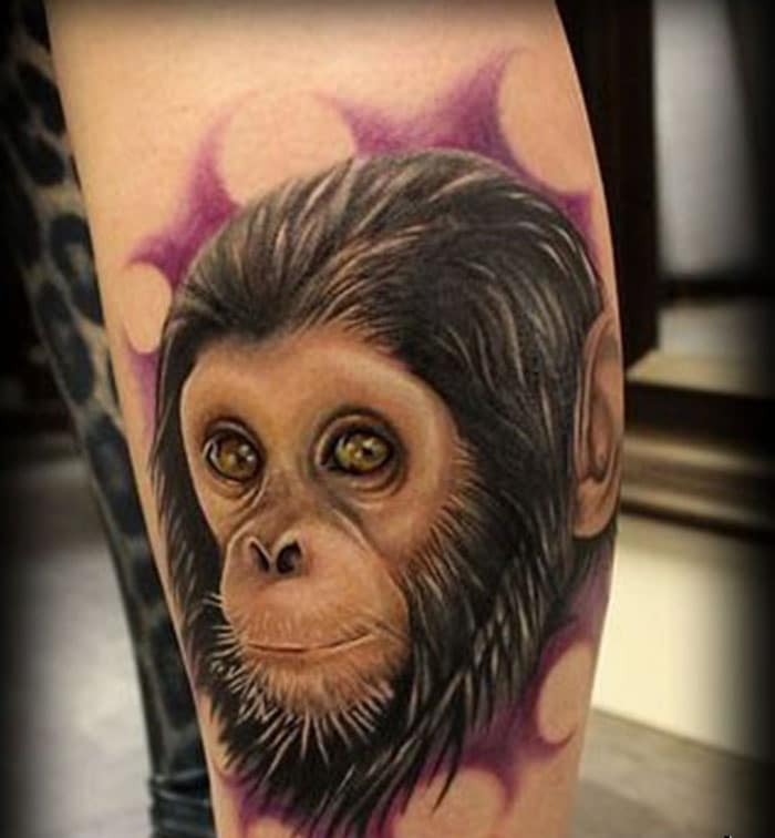 Giới thiệu đến bạn tattoo con khỉ siêu đẹp