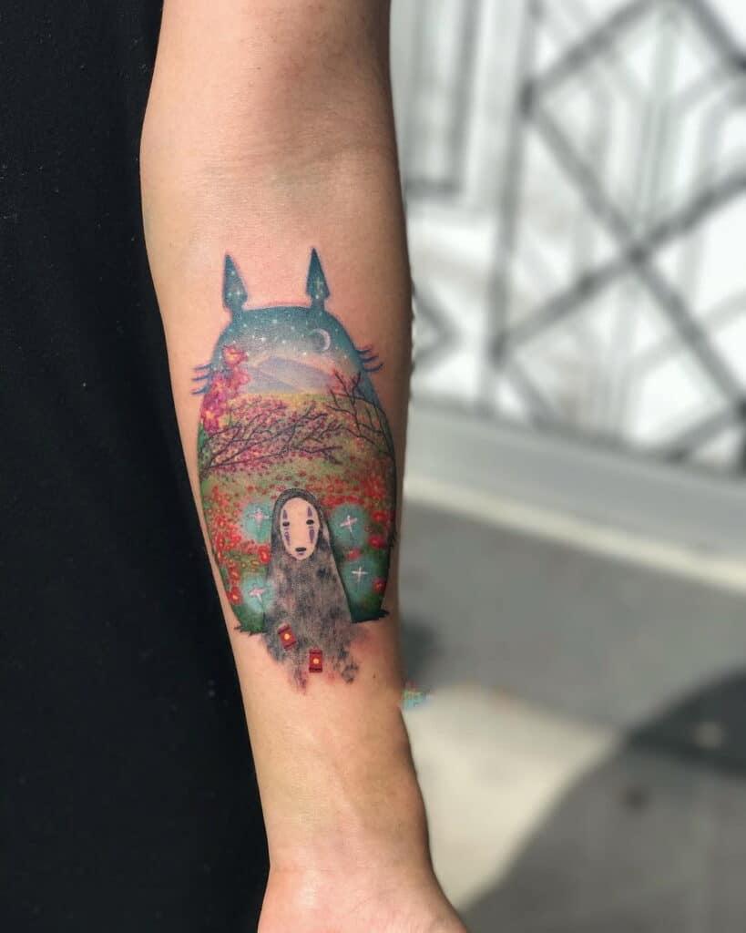 Giới thiệu tattoo totoro cuốn hút và ngộ nghĩnh cho con trai