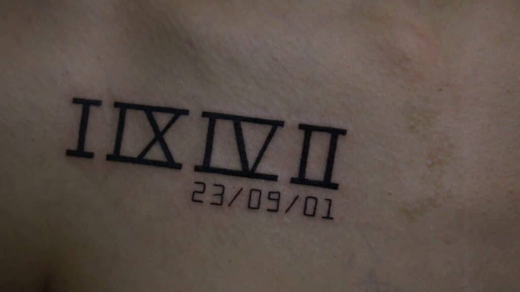 Gợi ý mẫu tattoo ngày tháng năm sinh số la mã đẹp