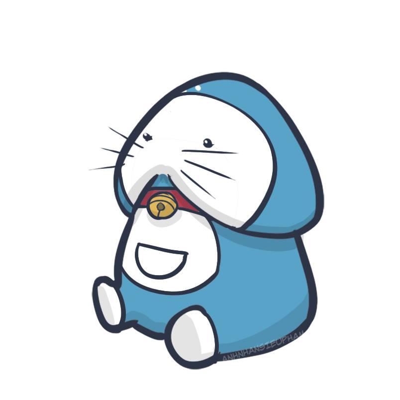 Gợi ý mẫu xăm con ciu doremon cute nhất quả đất