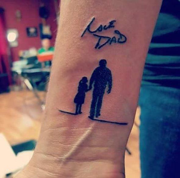Gửi bạn mẫu tattoo cha và con gái mini siêu đẹp