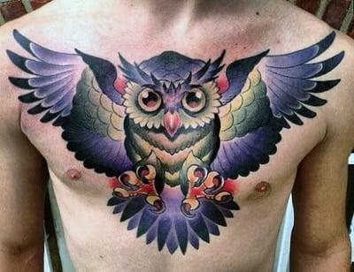 Gửi đến bạn kiểu tattoo cú mèo tuyệt đẹp