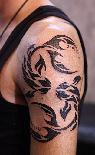 Gửi đến bạn tattoo cung song ngư chất ngầu